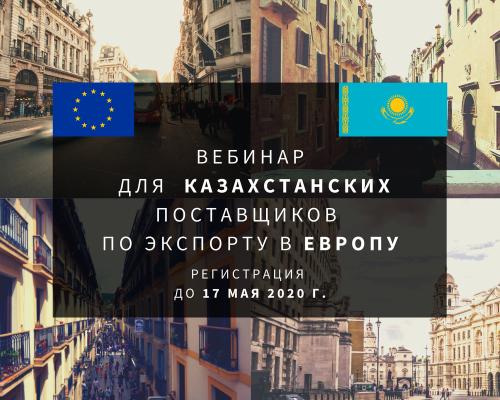Вебинар для  Казахстанских поставщиков по экспорту в Европу